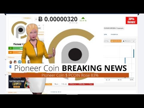 Cryptocurrency Pioneer Coin $PCOIN Gained 83% Over The Last 24 Hours
