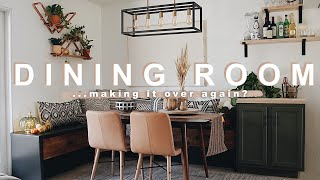 DIY DINING ROOM MAKEOVER | Fixing My Fails From Before!!!