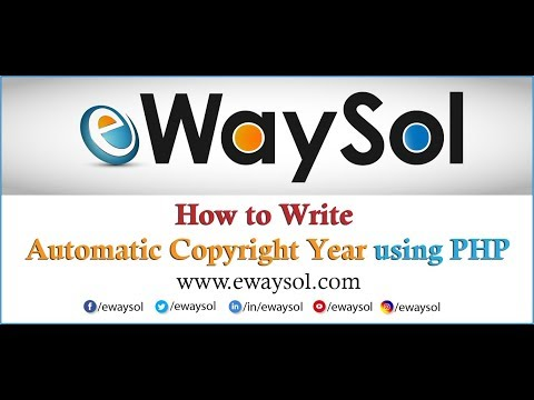 How to Write Automatic Copyright Year using PHP | eWaySol