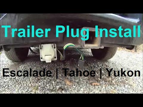 Trailer Plug Wiring   Escalade, Tahoe, Yukon    7 pin & 4 pin   How To