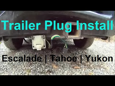 hqdefault trailer plug wiring escalade, tahoe, yukon 7 pin & 4 pin how 6 Pin Trailer Wiring Harness at soozxer.org