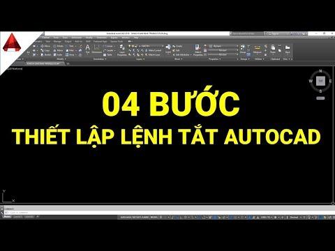 ✅ Thiết lập lệnh tắt trong autocad với 04 bước quan trọng (setting off command in autocad)