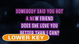 Dancing On My Own - Calum Scott | Karaoke Lower Key