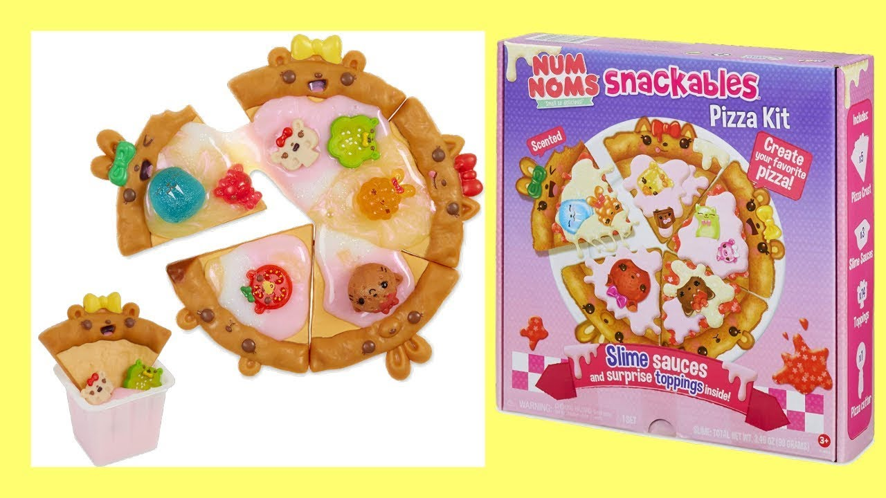 Num Noms Snackables Pizza Kit with New Slime Surprises Kid Toy Gift