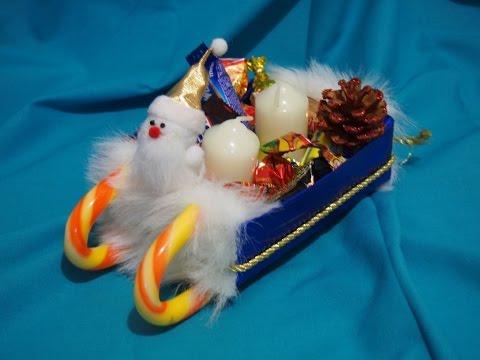 Идеи Новогодних поделок своими руками - Сани деда мороза