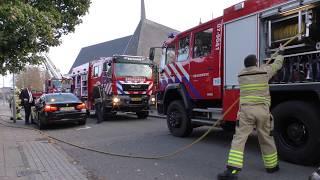 Brandweer handen vol aan (middel) schoorsteenbrand koterweg in Barneveld