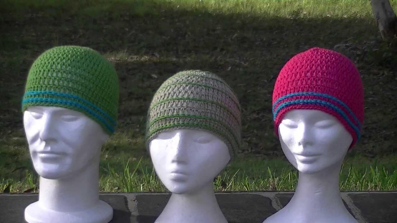 Skinny Stripes Crochet Hat Tutorial - YouTube