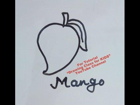 How to Draw Mango Fruit- Tutorial for Kids