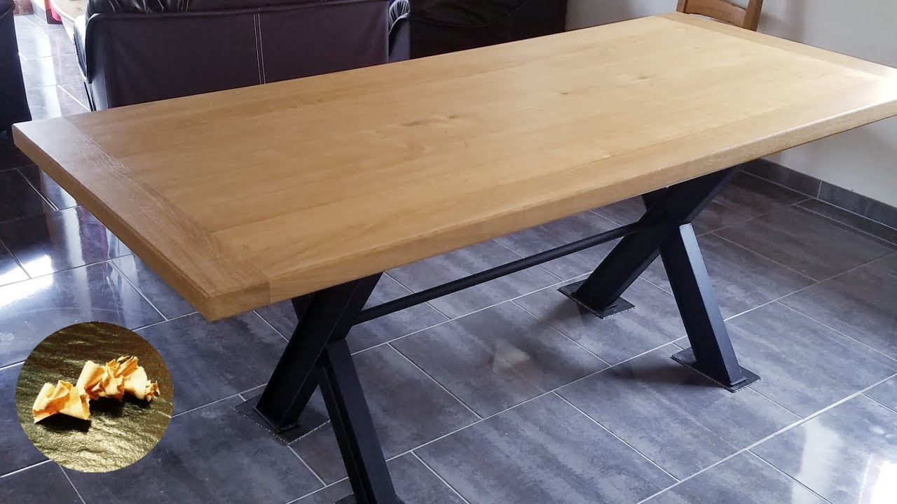 Fabrication Table Bois Industrielle Diy
