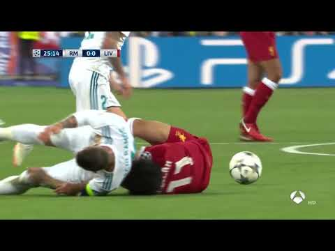Salah Injury Vs Real Madrid • Salah Vs Ramos • Champions League Final 2018