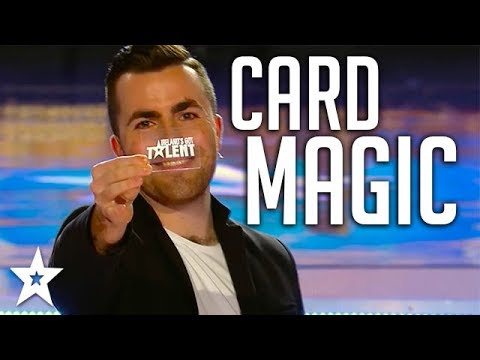AMAZING MAGICIAN Turns Cards Invisible on Got Talent Global