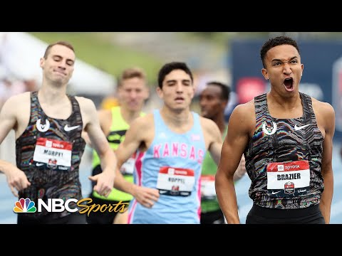 Brazier's late kick makes him national champ at 800 meters | NBC Sports