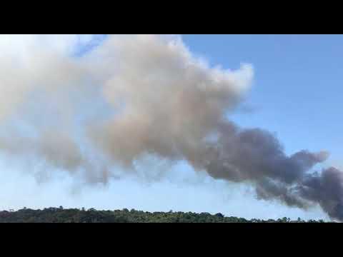 URGENTE! Mata perto da UNEB, em Valença, pega fogo nesta tarde