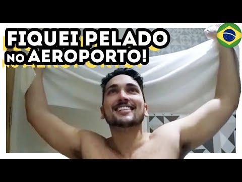 SOZINHO E PELADO NO AEROPORTO DE SÃO PAULO!!