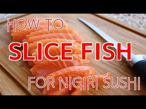 How To Slice Fish For Nigiri Sushi 【Sushi Chef Eye View】