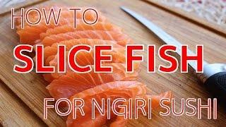 How to Slice Fİsh for Nigiri Sushi 【Sushi Chef Eye View】