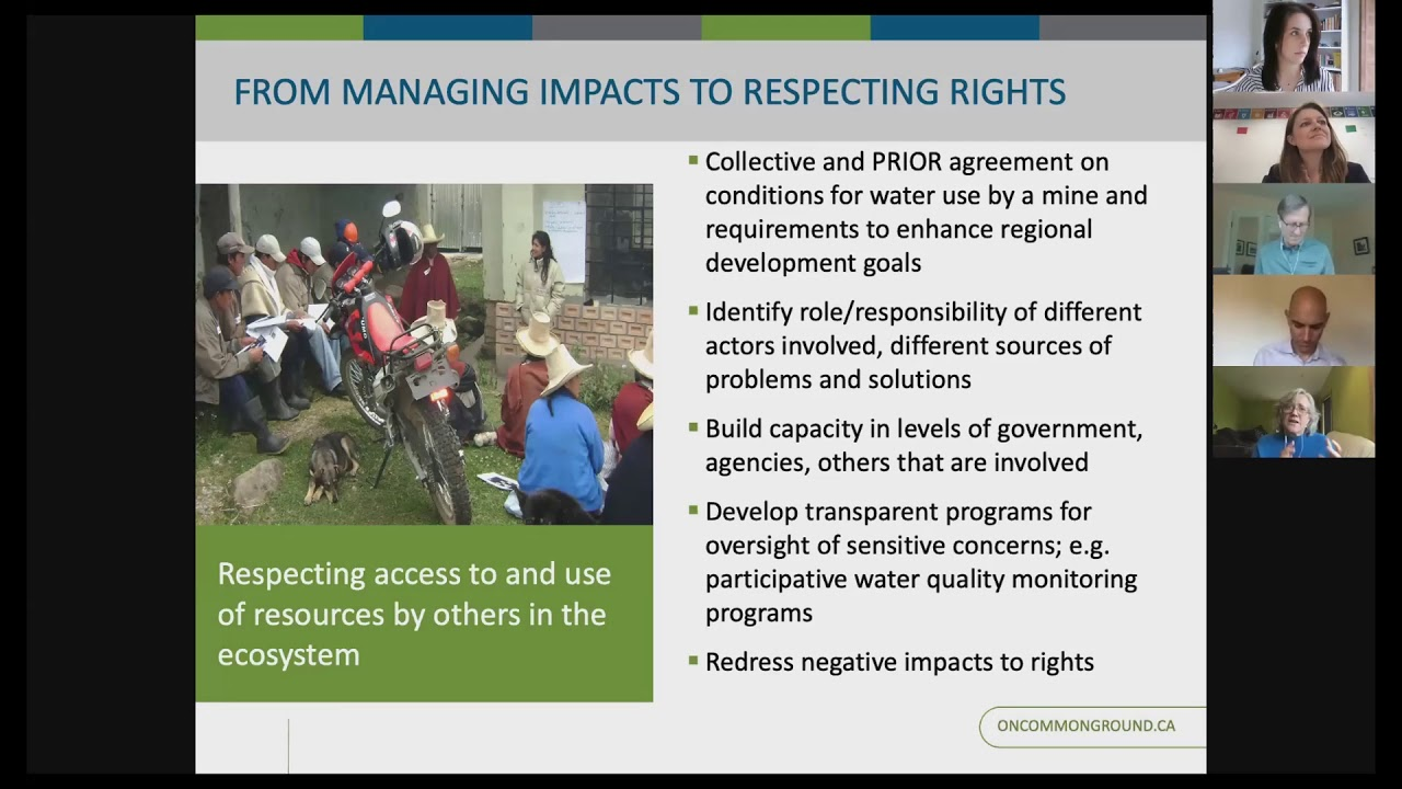 Susan Joyce - From Managing Impacts to Respecting Rights: Changing the criteria for decisions