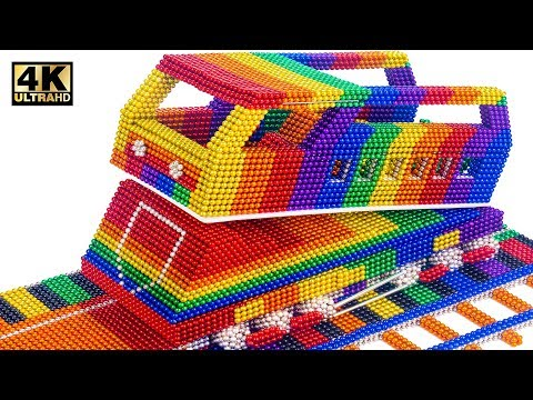 Most Creative - Make Train Mountain From Magnetic Balls (Satisfying) | Relaxing Video