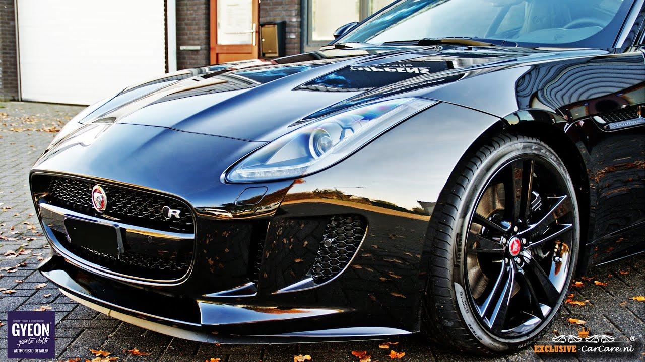 Gyeon Quartz Q2 MOHS+ glas-coating on a Jaguar F-type R ...