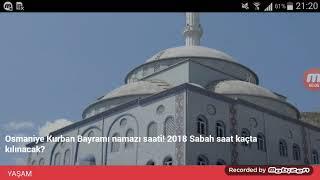 Osmaniye Bayram Namazı Saat Kaçta? 21 Ağustos 2018