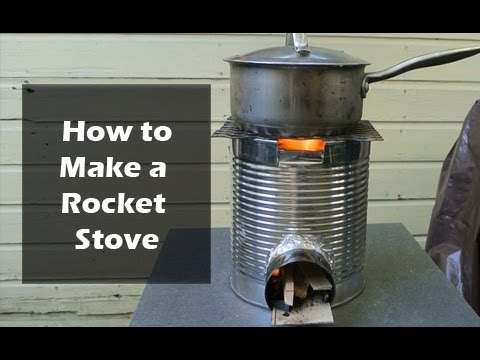 how to make a rocket stove from a coffee can youtube