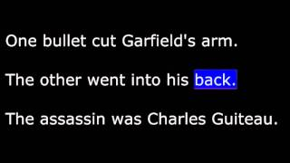 American History - Part 127 - Garfield - His brief Presidency - Assassinated