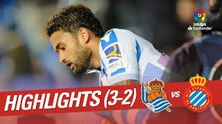 Highlights Real Sociedad vs RCD Espanyol (3-2)