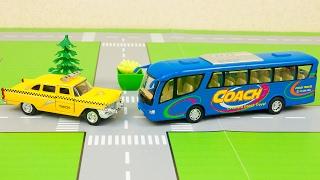 Машинки мультфильм - Мир машинок - 167 эпизод: Такси, Автобус. Развивающий мультик для детей.