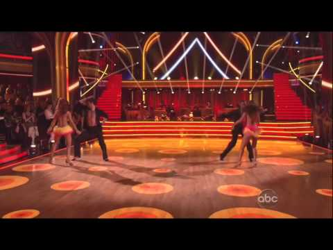 Karina Smirnoff & Jacoby Jones Encore performance on DWTS 4-16-13