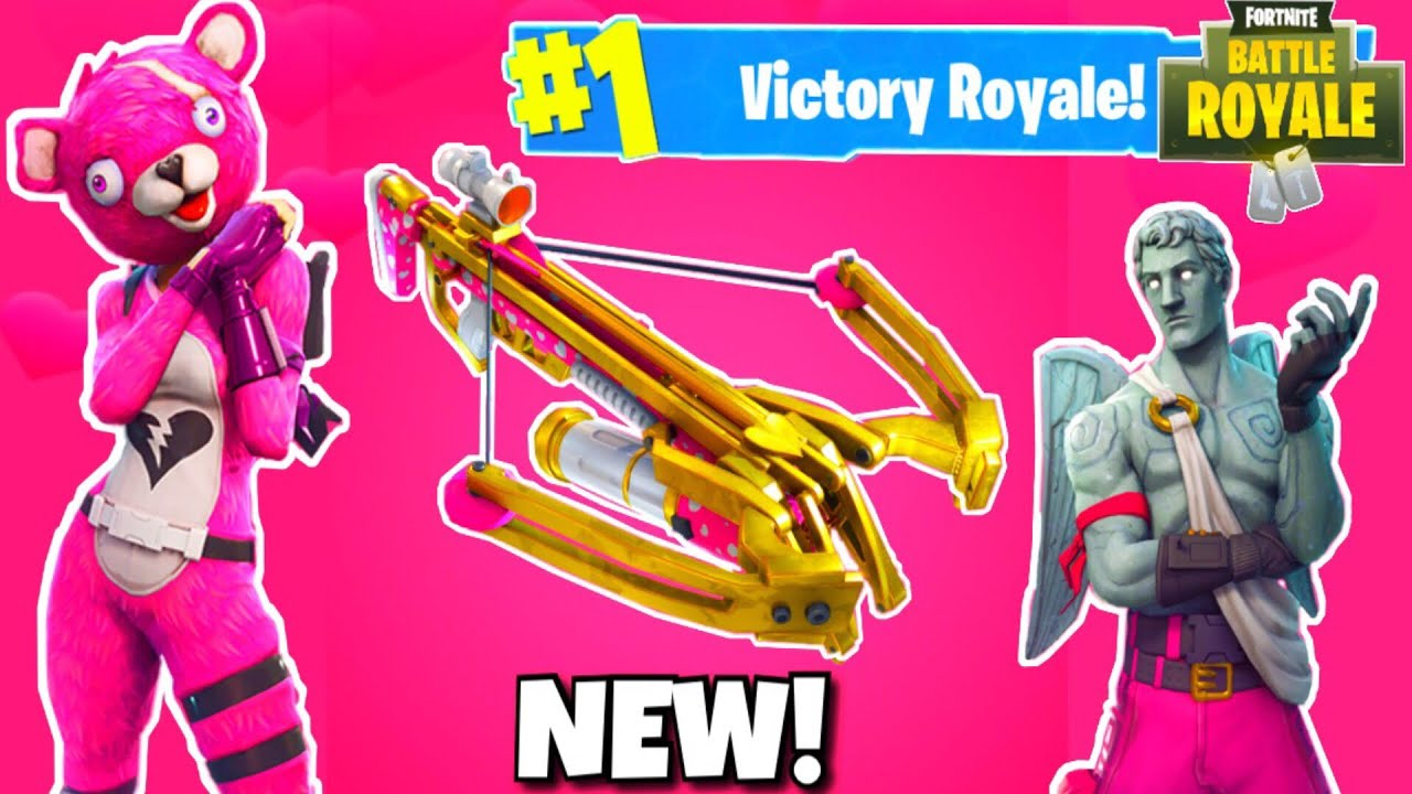 New Crossbow Weapon Update In Fortnite Valentine S Day Update