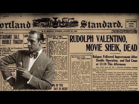Rudolph Valentino's funeral