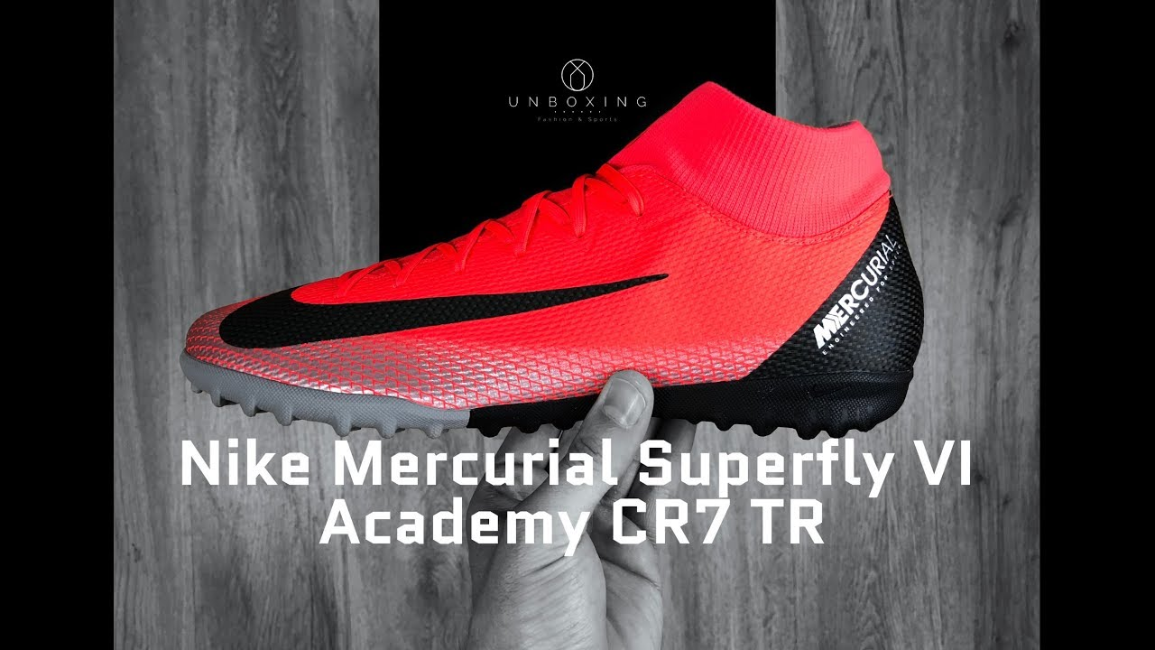 447475111 Nike Mercurial Superfly VI Academy CR7 TR  crimson black