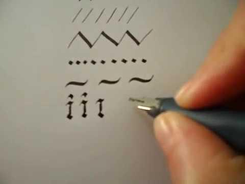 Gothic Calligraphy Starter Lesson Basic Strokes
