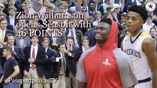 Zion Williamson GOES HARD in Season Opener!!! Jalen Lecque ANSWERS BACK…