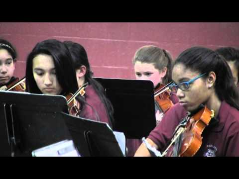 Redland Middle School Orchestra performing