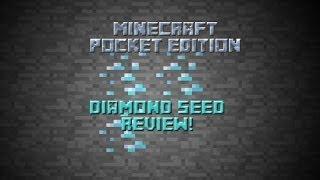 Minecraft PE diamond seed review!