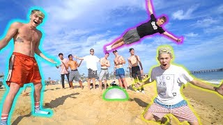 World'S Best Fit Ball Flips At The Beach!