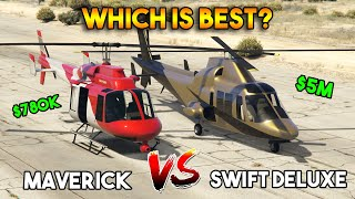 GTA 5 ONLINE : SWIFT DELUXE VS MAVERICK (WHICH IS BEST? CHEAPEST VS MOST EXPENSIVE)