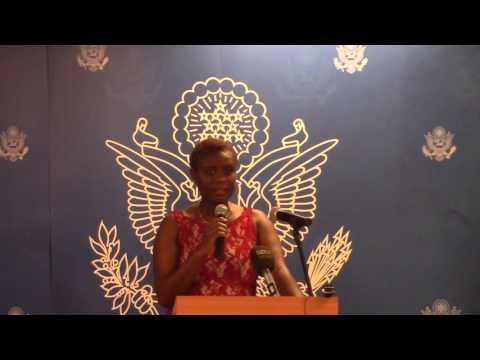 Bukola Oriola at U S Consulate, Lagos