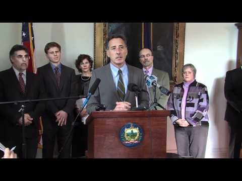 Vermont Governor Shumlin, Press Conference 1/25/12