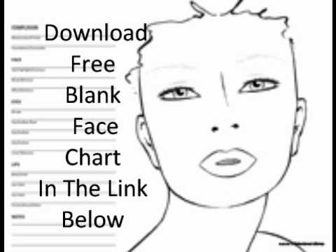 Free Blank Face Chart - YouTube