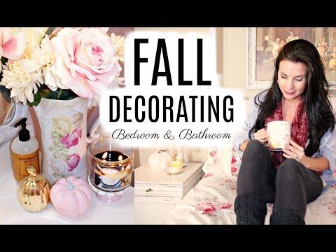"🍁FALL DECORATING BEDROOM & BATHROOM / ""I LOVE FALL"" ep. 9 DIY🍁"