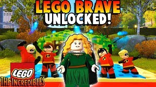 LEGO BRAVE MERIDA UNLOCKED! - Lego The Incredibles 100% Free Roam Guide Gameplay #13 (Kid Friendly)
