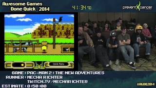 Pac-Man 2: The New Adventures :: SPEED RUN Live (1:00:44) by Mecha Richter #AGDQ 2014