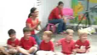 Children performing Dikir Barat