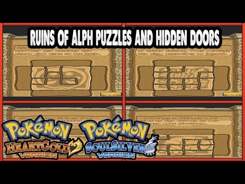Pokemon HeartGold And SoulSilver - Ruins Of Alph Puzzles And Hidden Doors (SOLVED)