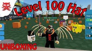 Chapeau de niveau 100 - Unboxing - Dansk Roblox