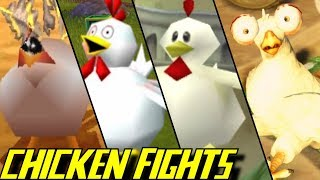 Evolution of Chicken Battles in Crash Bandicoot Games (1998-2019)