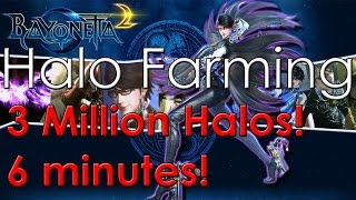 Bayonetta 2 Halo Farming Guide - 3 Million Halos in 6 minutes! -Hel...