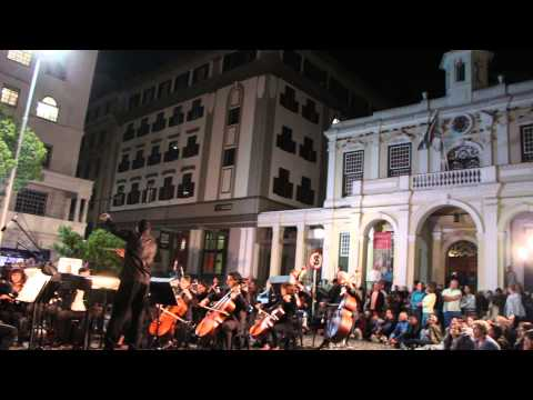 The Cape Philharmonic Orchestra perform in Greenmarket Square for Infecting the City